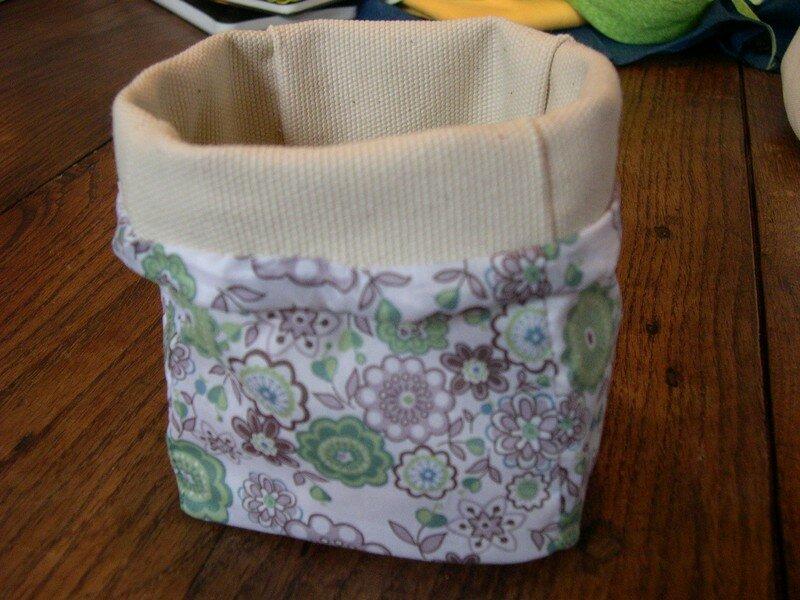 Pot toile/liberty lauren green
