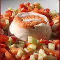 Blanc manger : crevettes-concombre