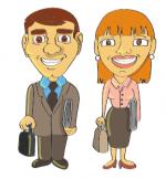 Dessin-homme-et-femme-daffaires
