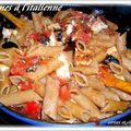 Pennes farine complete à l'italienne aux 2 tomates et feta