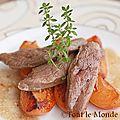 Magret de canard aux abricots