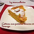 Gâteau de patates douces à l'orange