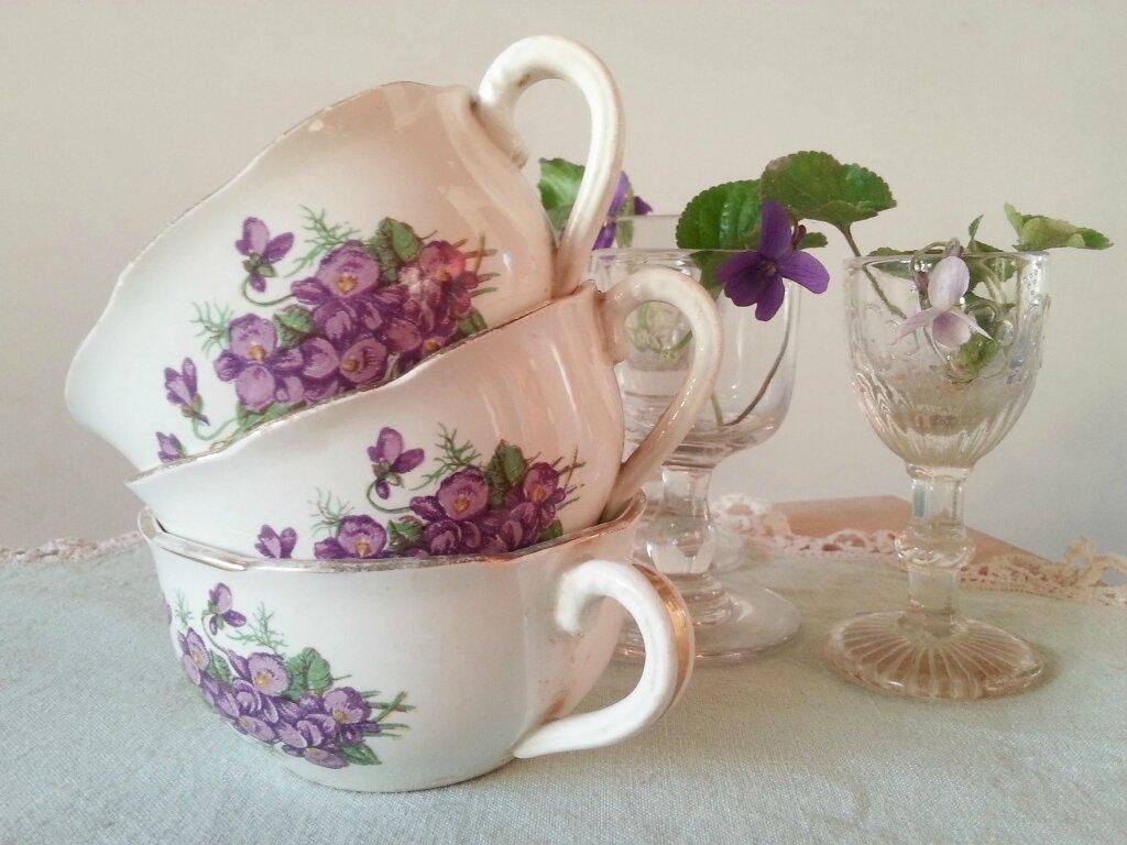 tasses violettes