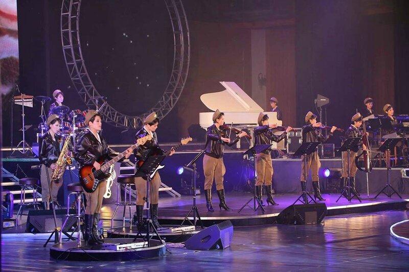 musiciennes Corée N sur scène