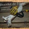 bracelet de l'été imit ambre galet inscription asiatique