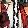 Robe Dentelle noire/rouge