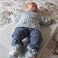 Brassiére bébé tricotée mains modéle RUBENS taille 3 mois prix 22€