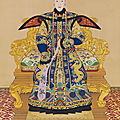A large imperial portrait of consort chunhui by giuseppe castiglione and others, title calligraphy by the qianlong emperor