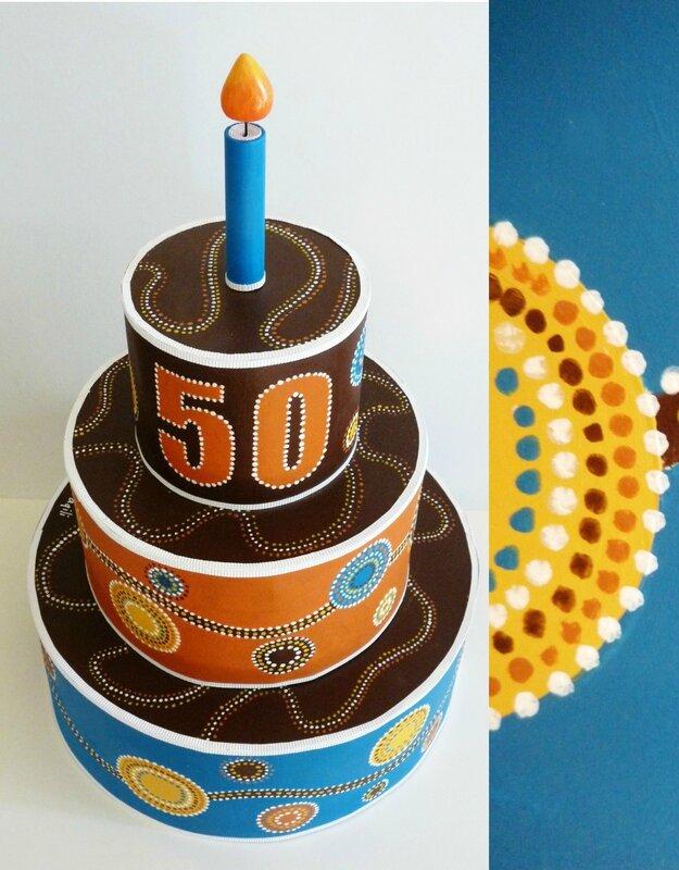 Gâteau d'anniversaire, esprit aborigène
