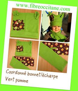 coordonn__acharpe_bonnet_vert