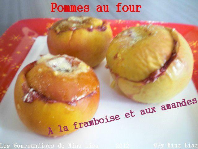 pommes au four à la framboise et aux amandes