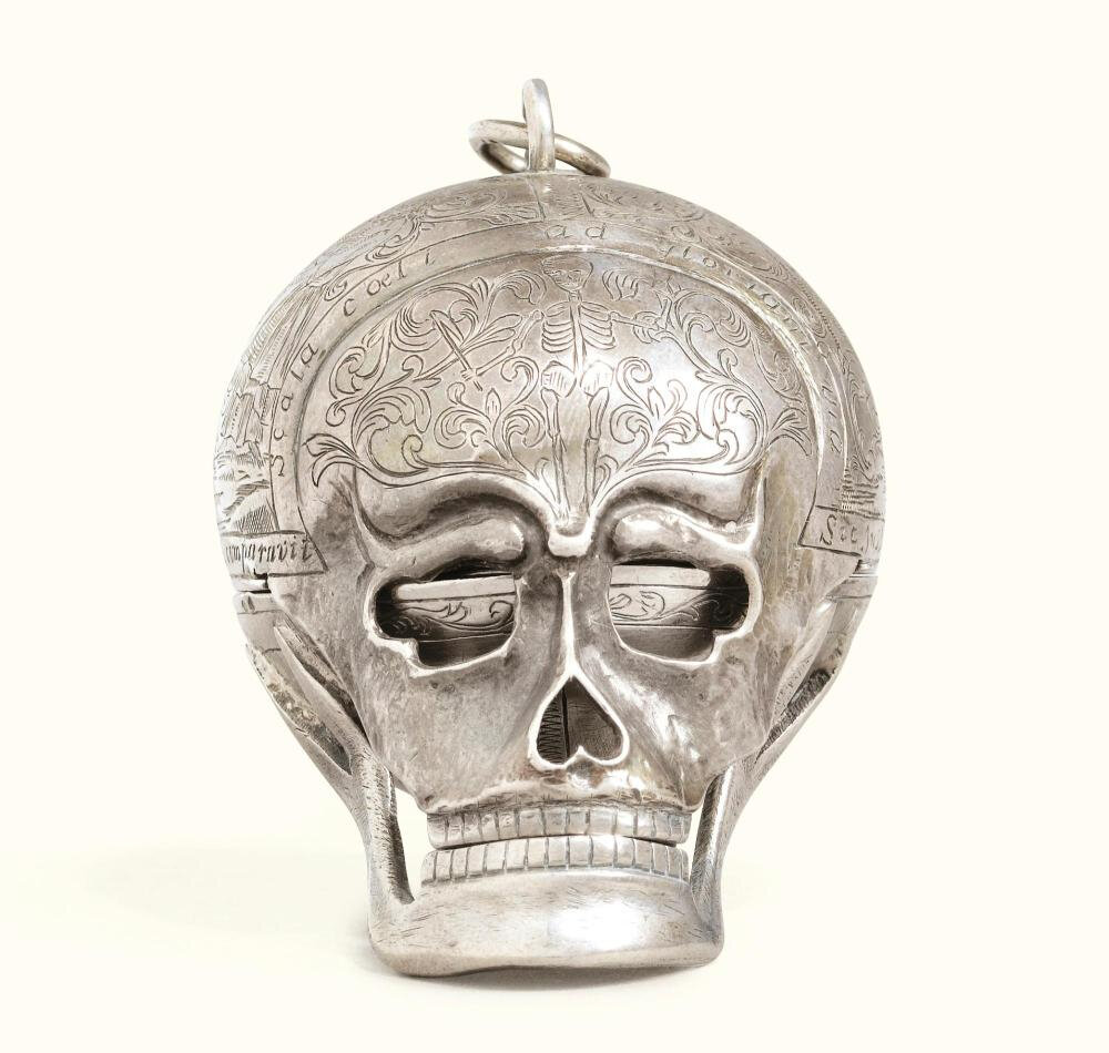 Jacques Palliard (Paliard or Pailard) (1718-1787), Besançon, first half 18th century, A silver memento mori pocket watch