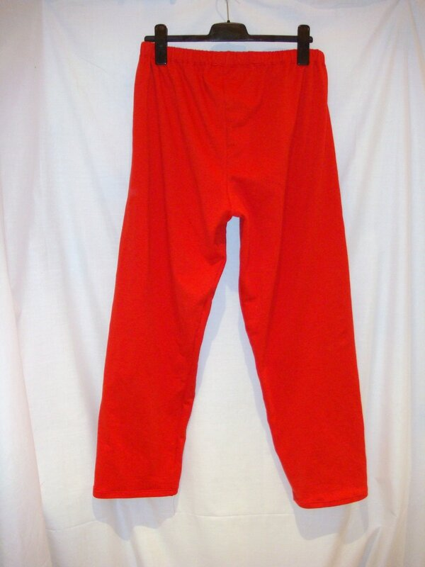Pantalon pyjama Chris molleton rouge dos flash