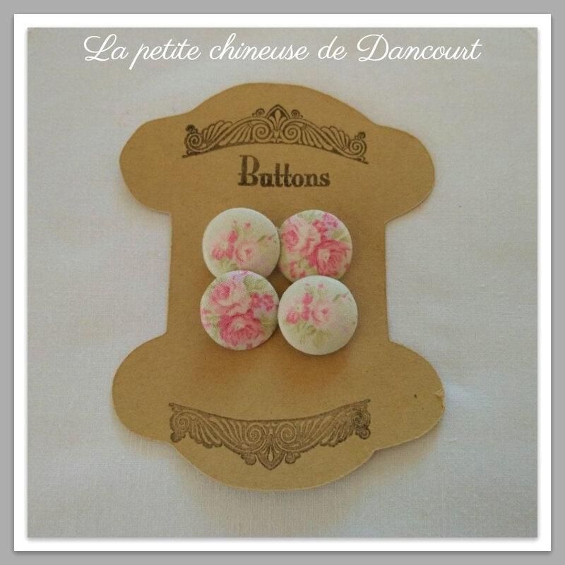 Boutons coordonnés Yuwa Romance pastelle la petite chineuse de Dancourt