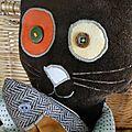 chat brun détails