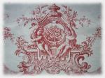 coupon tissu toile de jouy rouge princesse2