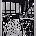 Les amoureux - Linogravure Geraldine Theurot