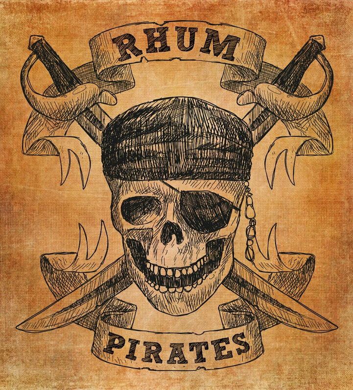 étiquette rhum pirate