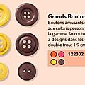 m29 boutons maille douceur