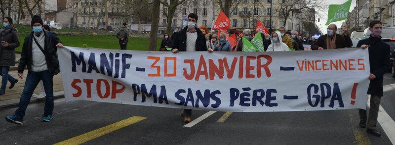 MARCHONS ENFANTS LE 30 JANVIER A VINCENNES