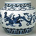 Blue and white 'makara' jar, mark and period of Xuande, Qing court collection © Collection of the Palace Museum, Beijing