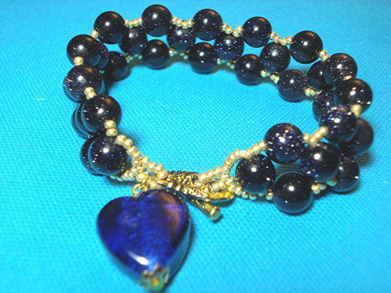 552b Bracelet bleu nuit
