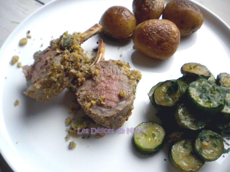Carré d'agneau en crumble de noisettes et de pistaches 2