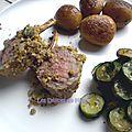 Carré d'agneau en crumble de noisettes et de pistaches