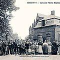 WIGNEHIES-Sortie de l'usine Boussus 1913