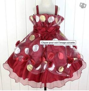 robe rouge pois 6