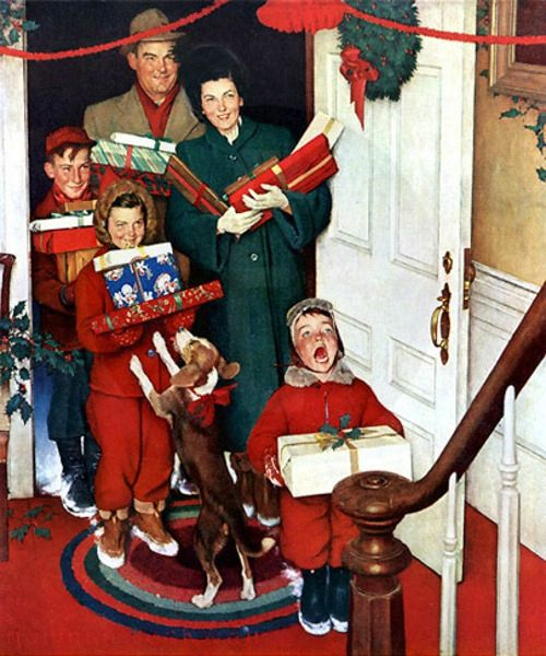 Rockwell Norman merry-christmas-grandma-we-came-in-our-new-plymouth