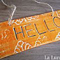 plaque de porte Hello