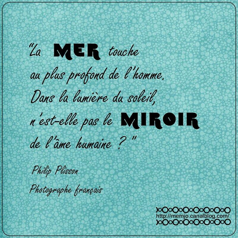 Citation Plisson Mer Miroir