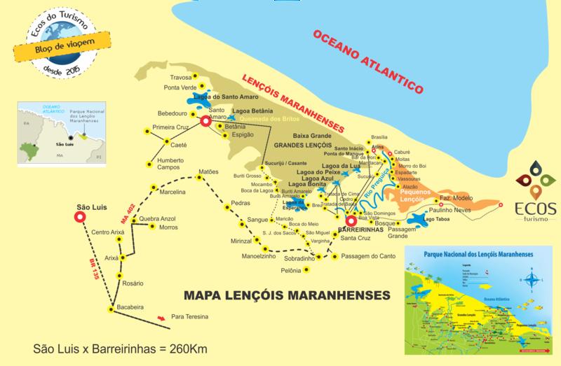 Mapa-Lençois