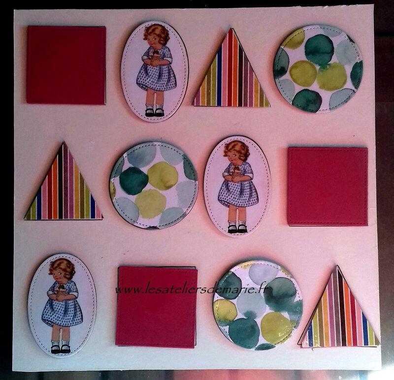 jeu des formes à la façon Montessori