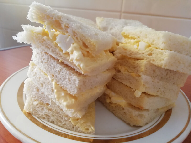 sandwiches à l'œuf