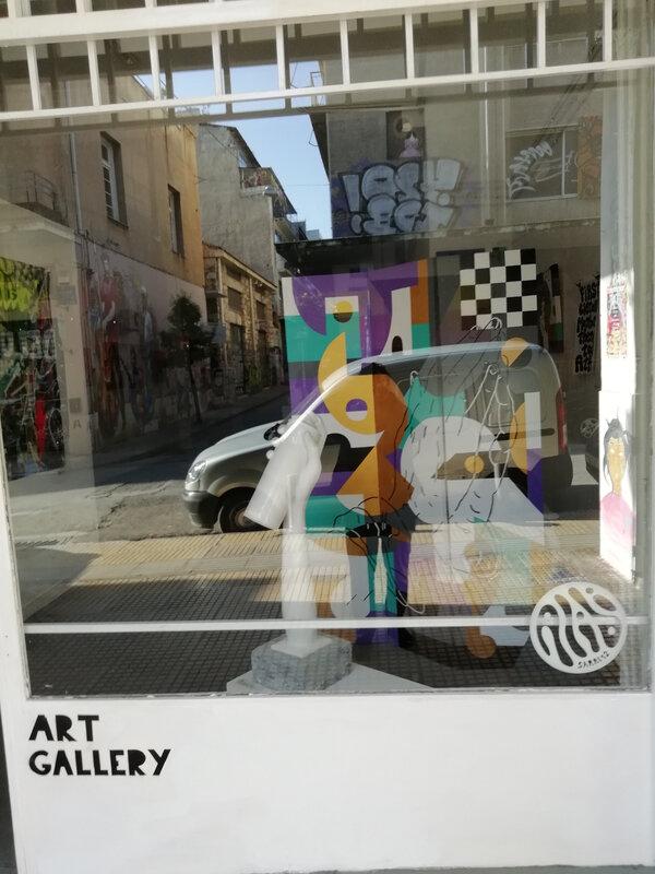 Alibi Gallery vitrine