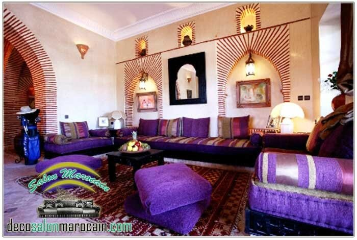salon marocain mauve luxueux salon marocain moderne. Black Bedroom Furniture Sets. Home Design Ideas