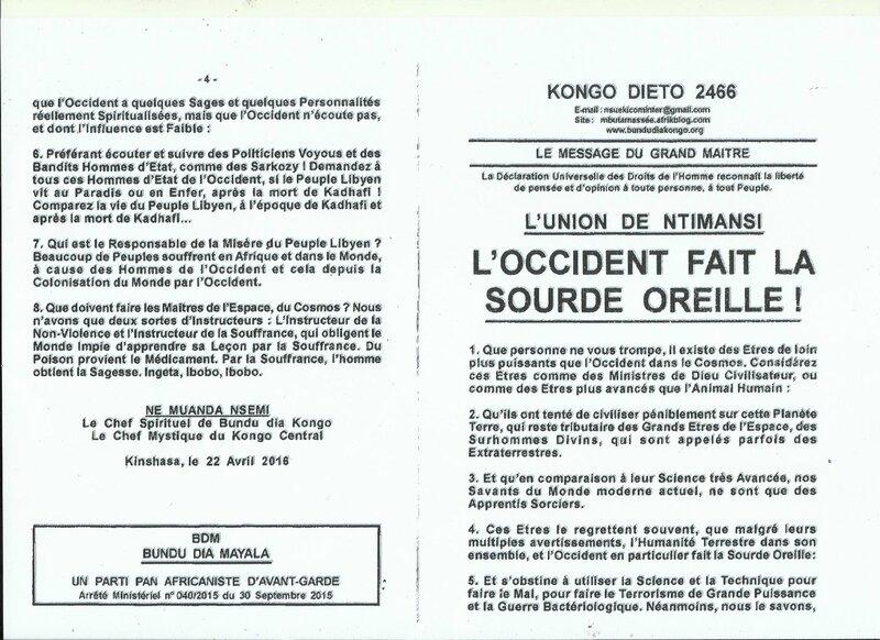 L'OCCIDENT FAIT LA SOURDE OREILLE ! a