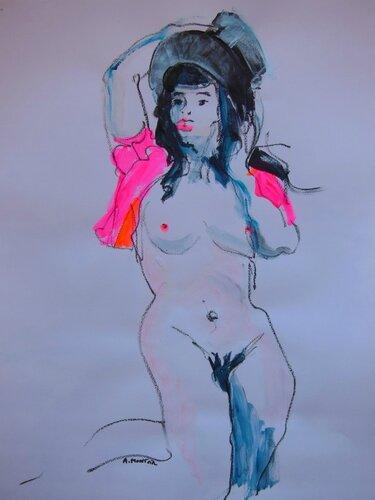 5-dessin peinture tableau de nu d'atelier (1)