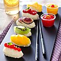 Sushi aux fruits
