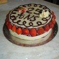 Premier test de gâteau d'anniversaire(25 ans de mon frère).