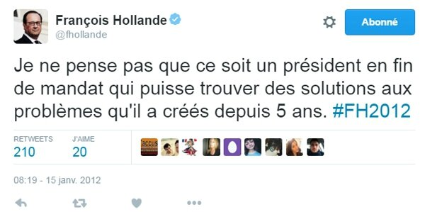 ps hollande humour tweett sarkosy