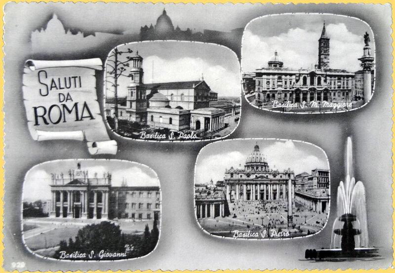 CPSM Roma Saluti