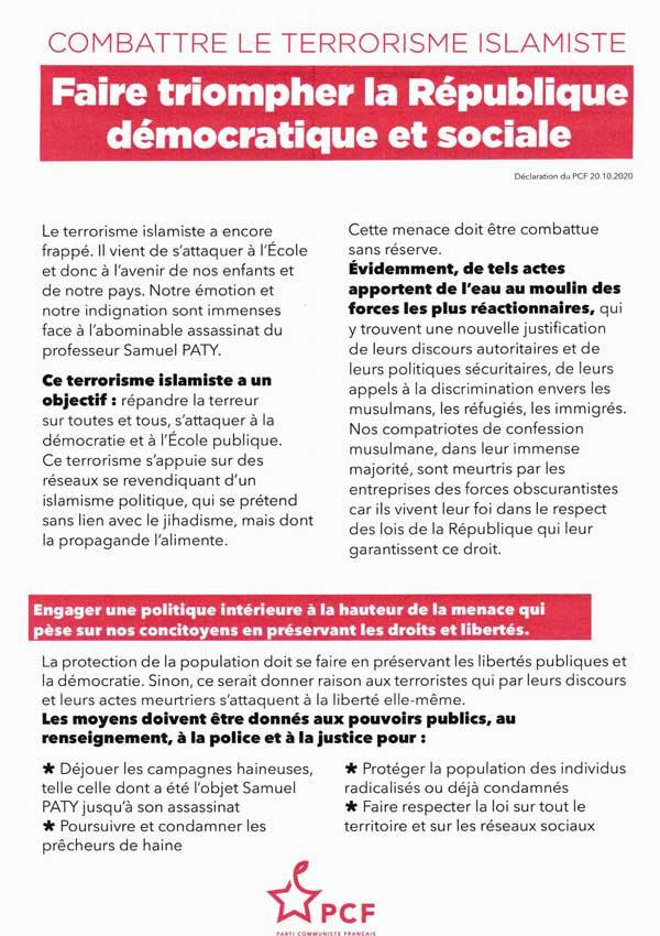 Faire triompher la République démocratique et sociale
