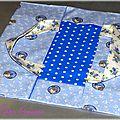 Sac à tarte romantique bleu avec papillons