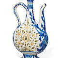 A safavid soft-paste porcelain ewer, kirman, south east iran, mid 17th century