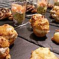 Muffins aux tomates et rillettes de sardines