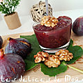 Confiture de figues aux noix et à la vanille de mouma