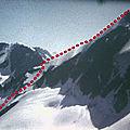 Bec d'epicoune à ski 3529 m - alpes valaisannes